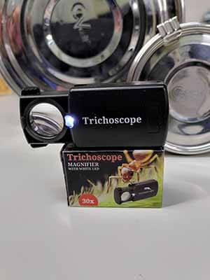 microscoop voor trichomen